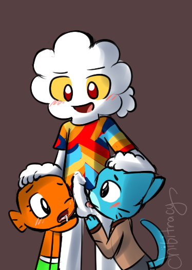 gumball world teri of the amazing Captain k nuckles and flapjack